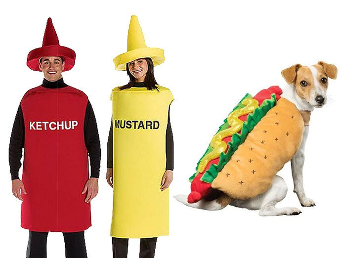 كاتشب، Mustard, and Hot Dog