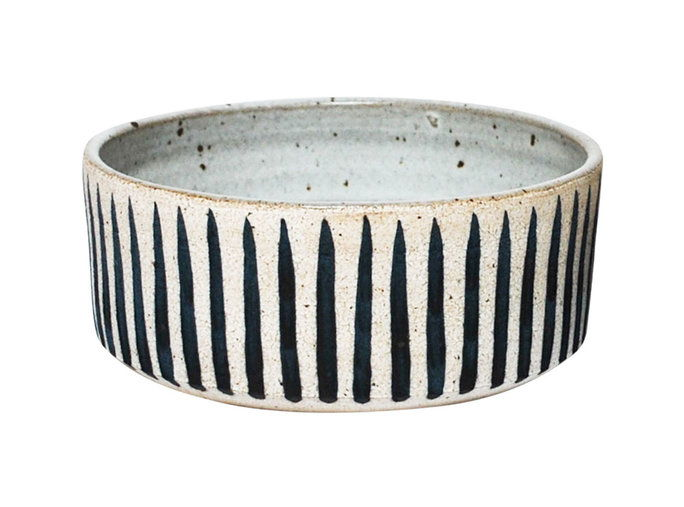 Индиго Striped Dog Bowls