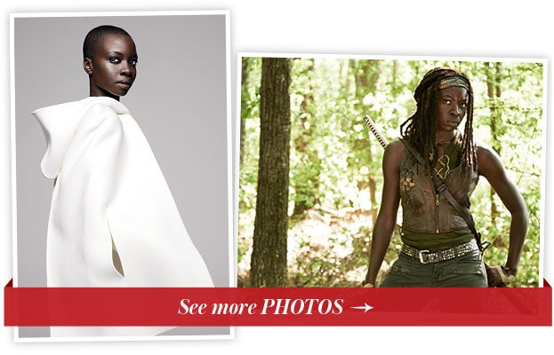 Данаи Gurira - The Walking Dead - InStyle October