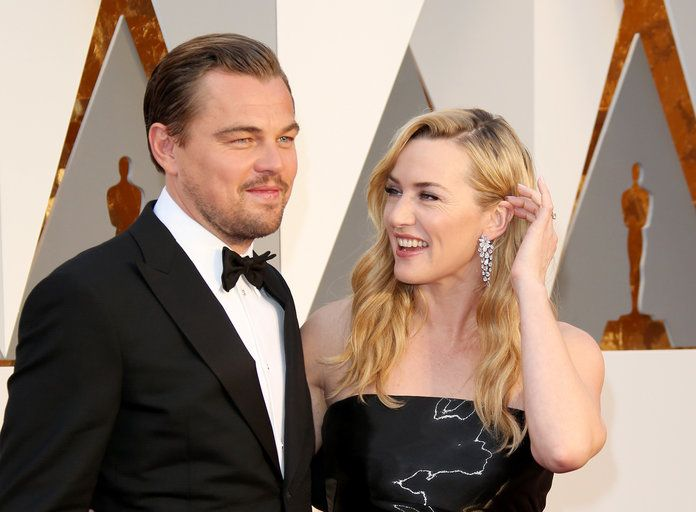 Кате and Leo at the 2016 Academy Awards
