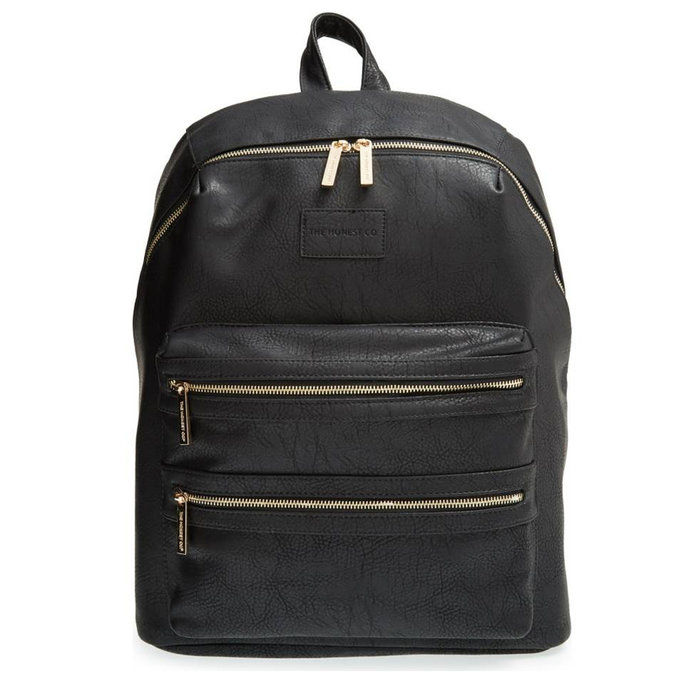 Тхе Honest Company City Faux Leather Diaper Backpack