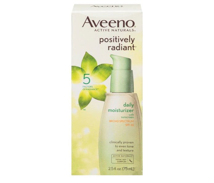 Рано 20s: Aveeno Positivily Radiant Daily Facial Moisturizer With SPF 50