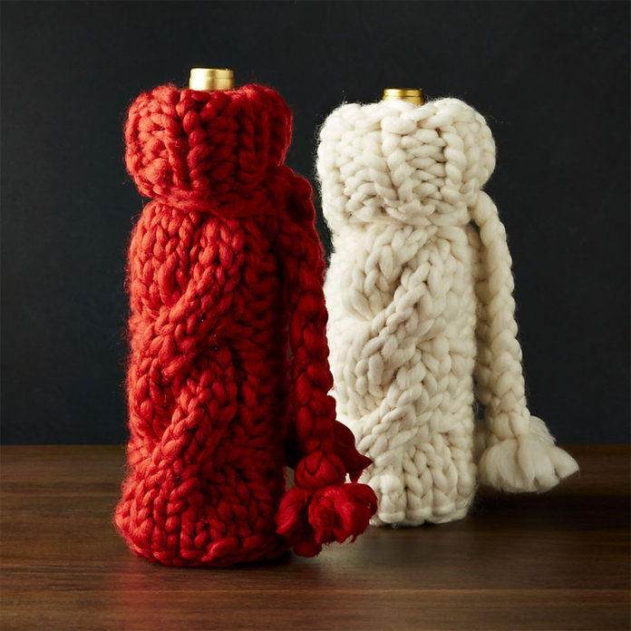 دافئ KNIT WINE BAG