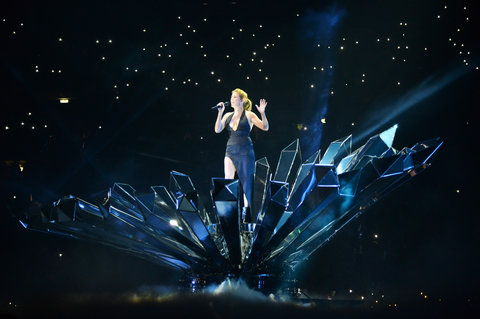 Ellie Goulding performs onstage at the MTV EMA's 2015 at Mediolanum Forum on October 25, 2015 in Milan, Italy.