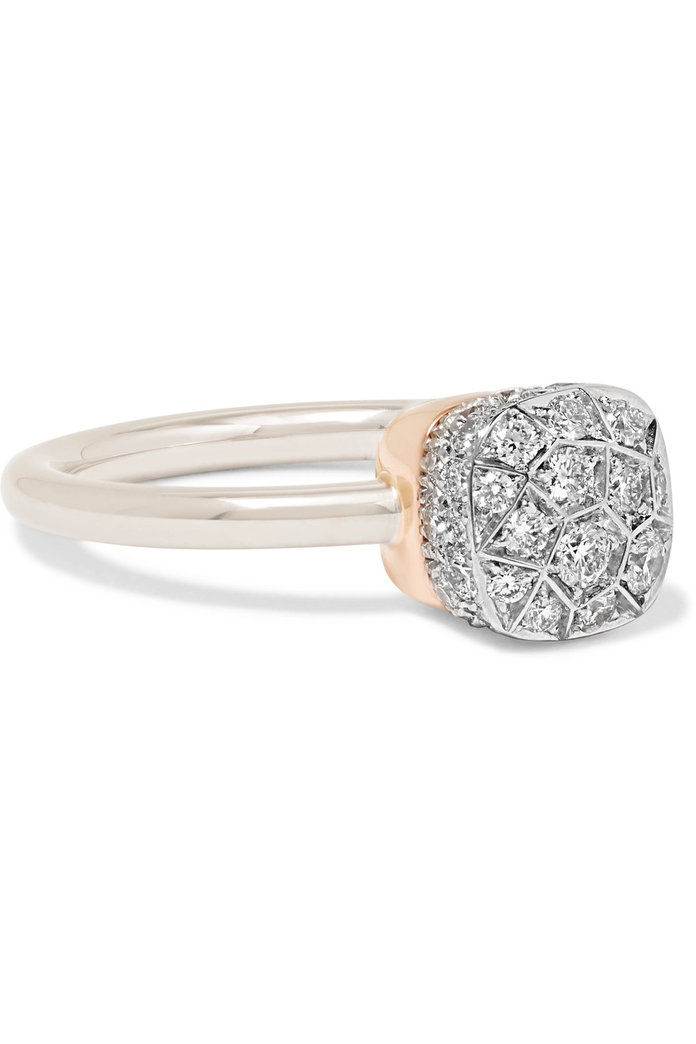 Pomellato Nudo 18-karat rose gold diamond ring