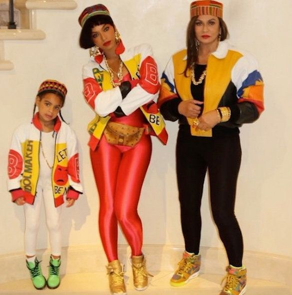 Беионце, Blue Ivy Carter, and Tina Knowles