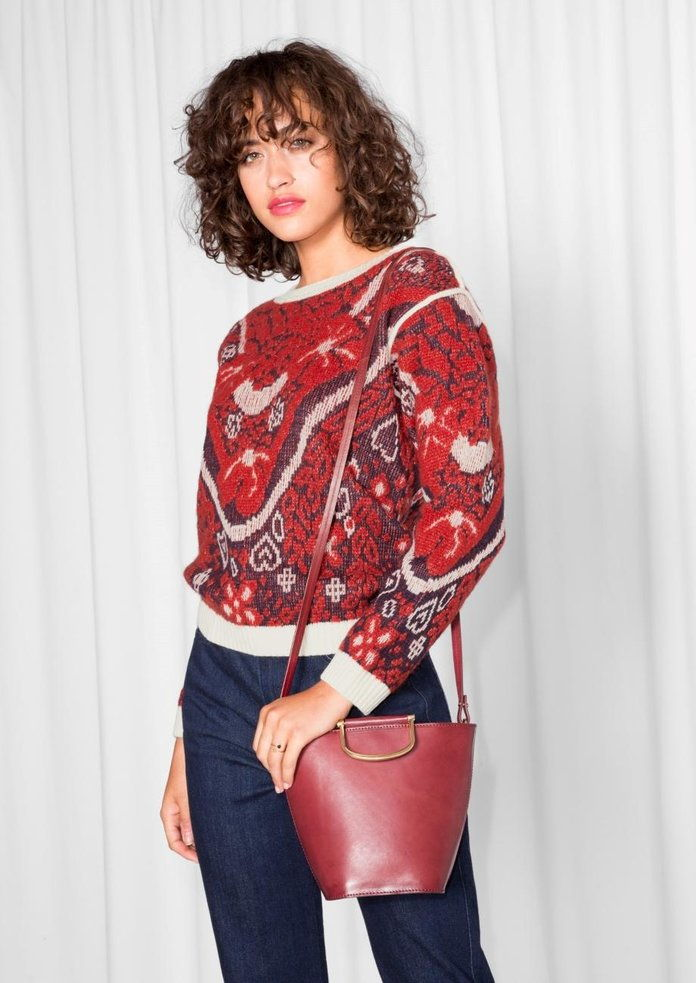 &آخر Stories Jacquard Embroidery Knit