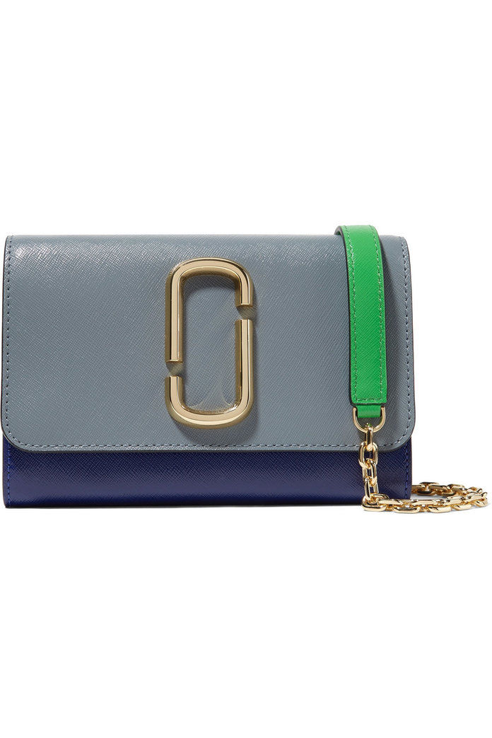 Марц Jacobs Snapshot color-block textured-leather shoulder bag