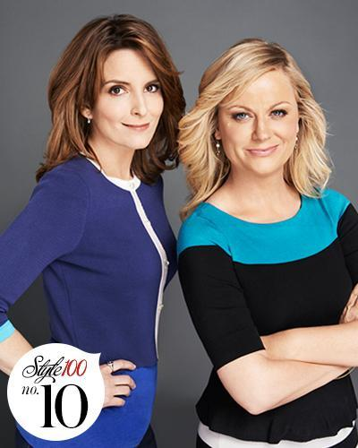 تينا Fey and Amy Poehler Host the Globes - Style 100