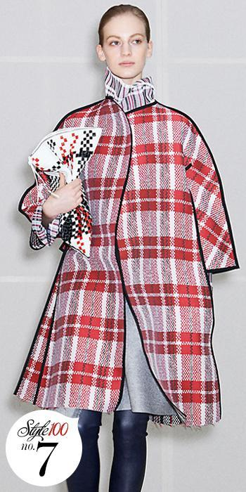 في سيلين Plaid Coat - Style 100