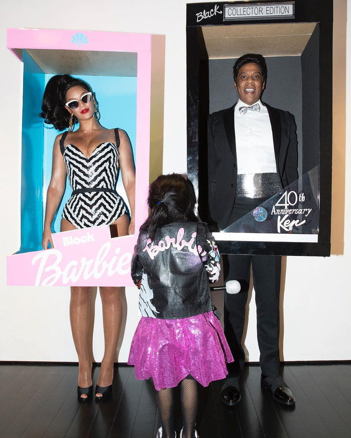 Беионце, Jay Z, and Blue Ivy Carter as Barbie Dolls