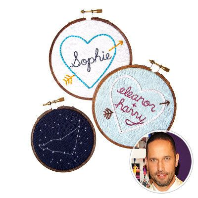 Минијатура Rhino - Embroidered Heart and Zodiac Samplers - ideas for the tastemaker - holiday shopping