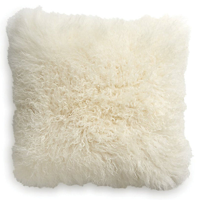 قفص & Barrel Pelliccia Ivory Pillow