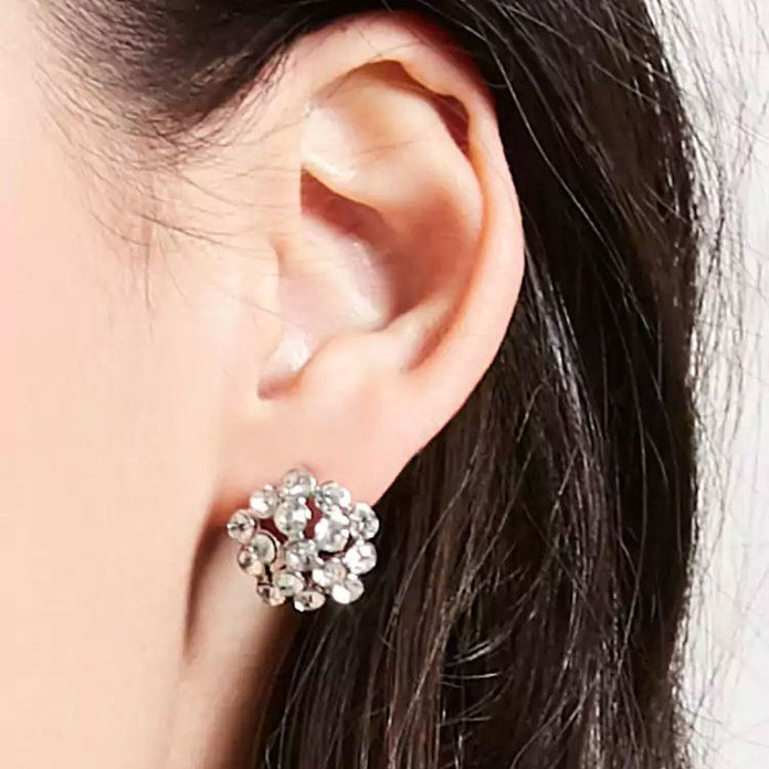 حجر الراين Stud Earrings