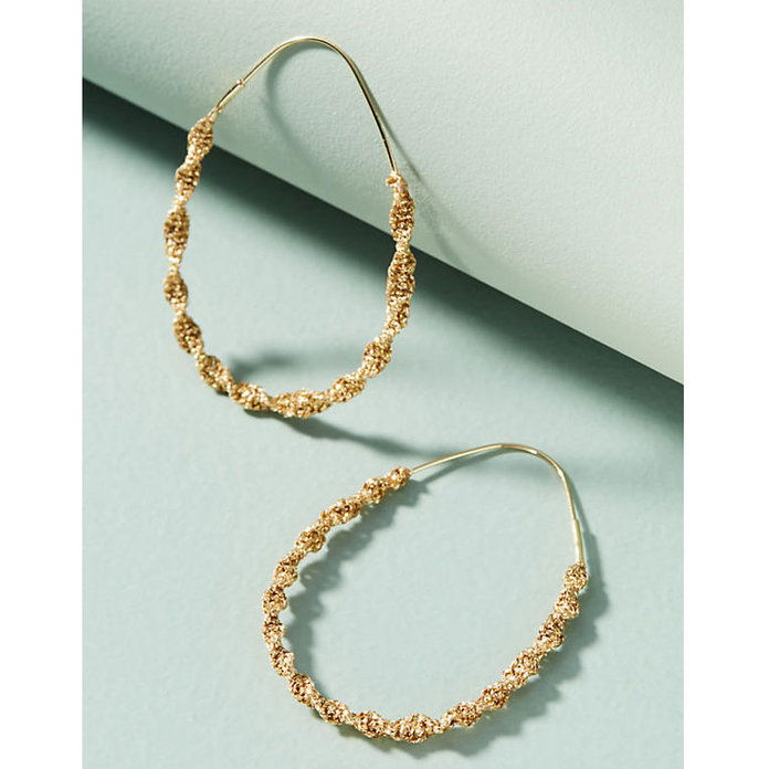 ملفوف Hoop Earrings