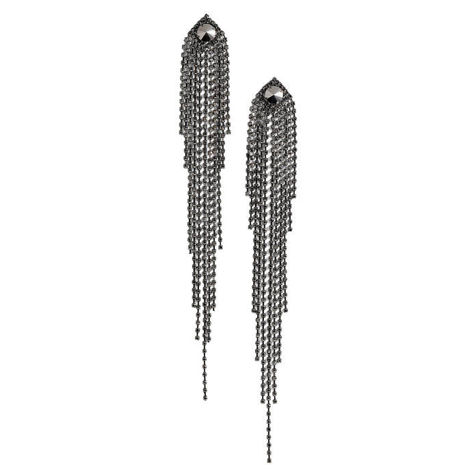 دراما Crystal Shoulder Duster Earrings