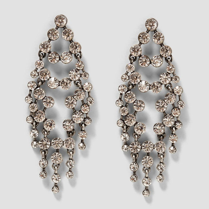 طويل Shiny Earrings