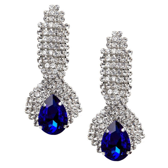 عتيق Sapphire Look Dangle Earrings