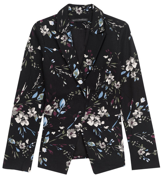 ا floral blazer to spice up your suit by White House Black Market