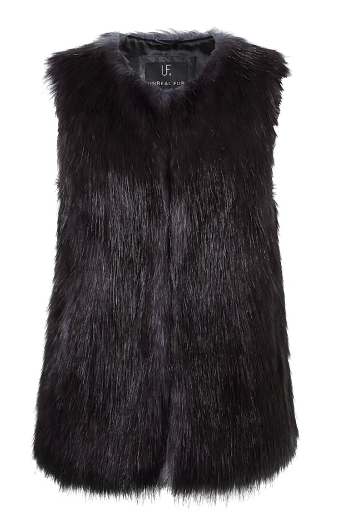 ا faux fur vest to wear over (or under) your coat by Unreal Fur