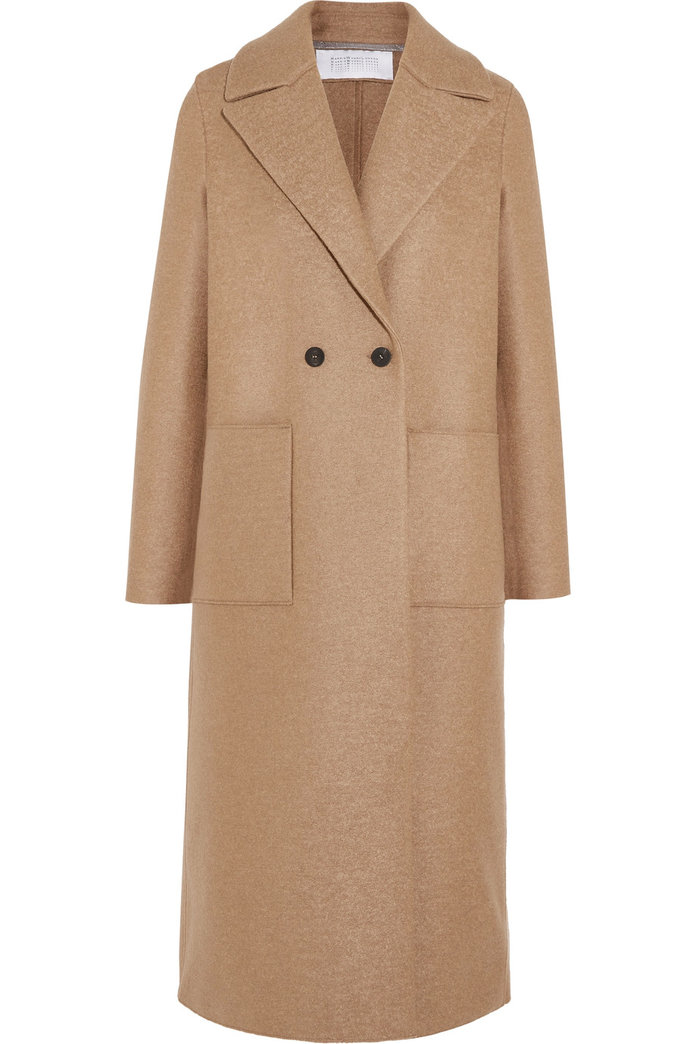 ا classic camel coat for the minimalist by Harris Wharf London