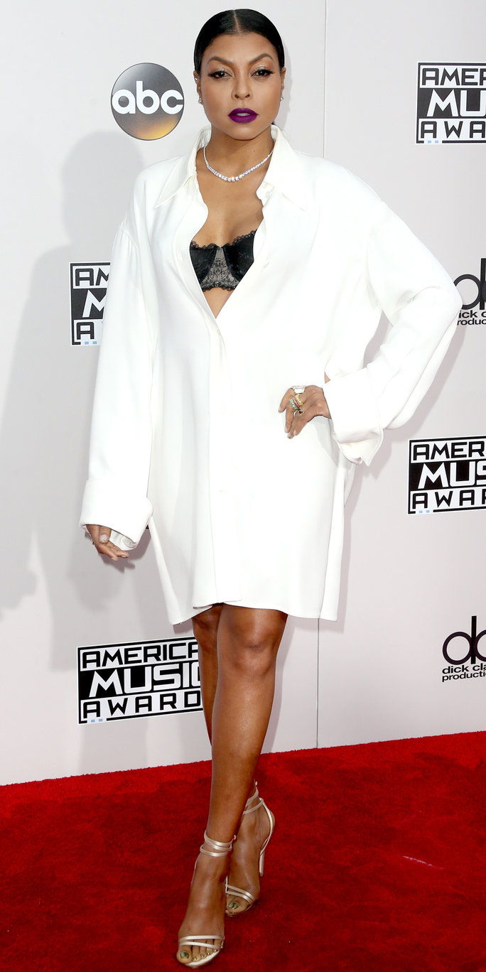 Глумица Taraji P. Henson attends the 2016 American Music Awards at Microsoft Theater on November 20, 2016 in Los Angeles, California.