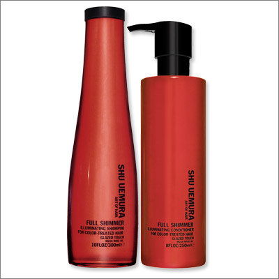 Сху Uemura Full Shimmer Shampoo and Conditioner