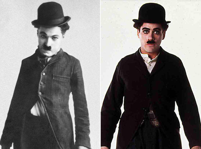 روبرت Downey Jr. as Charlie Chaplin