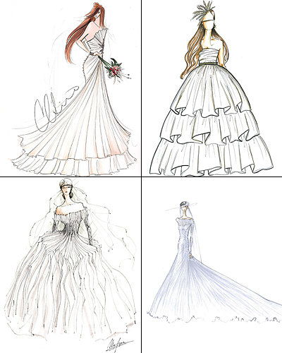 Мода Designers Sketch Kate Middleton's Wedding Dress - Poll