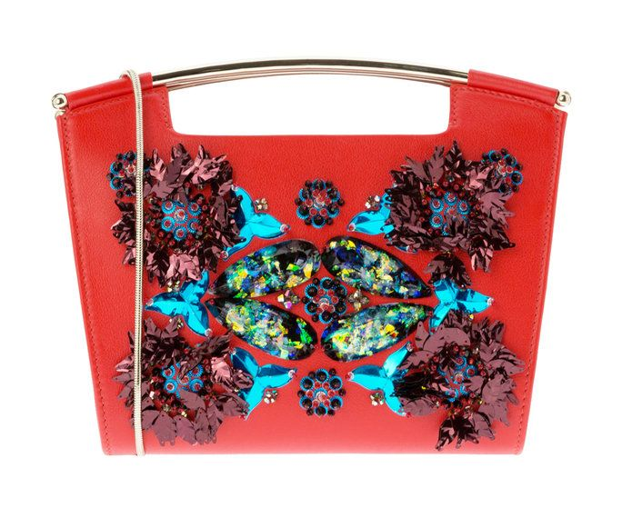 Delpozo Red Embroidered Mini