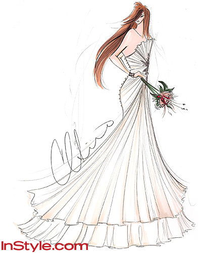 Мода Designers Sketch Kate Middleton's Wedding Dress - Christian Siriano