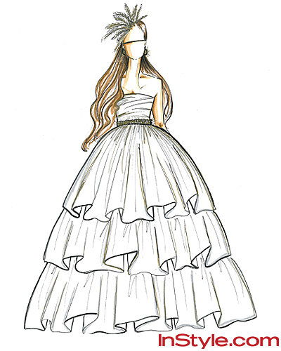 Мода Designers Sketch Kate Middleton's Wedding Dress - Shoshanna