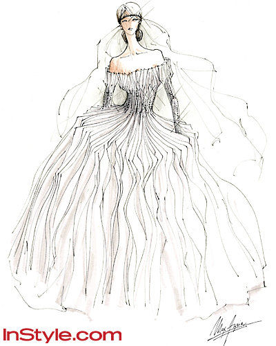 Мода Designers Sketch Kate Middleton's Wedding Dress - Max Azria