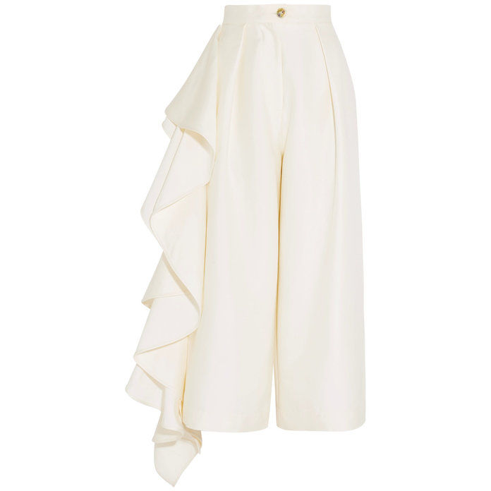 Руффлед crepe culottes