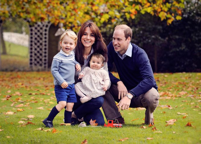 Тхе Duke and Duchess of Cambridge, Prince George, and Princess Charlotte, 2015