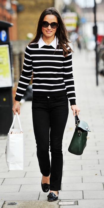 Пиппа Best Outfits - Alice + Olivia Shellen Mock Collar sweater and Kate Spade purse