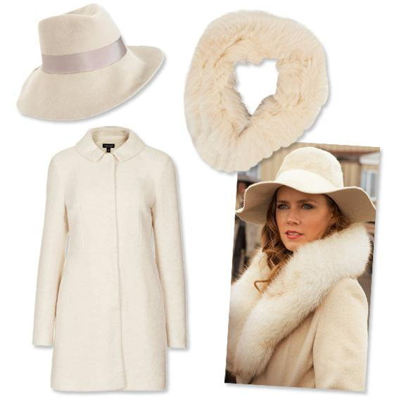 ايمي Adams: Floppy Wool Hat + Coat