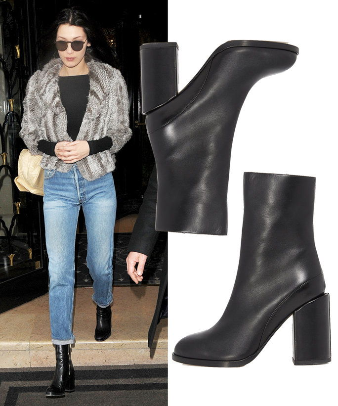 Белла Hadid in Dear Frances booties