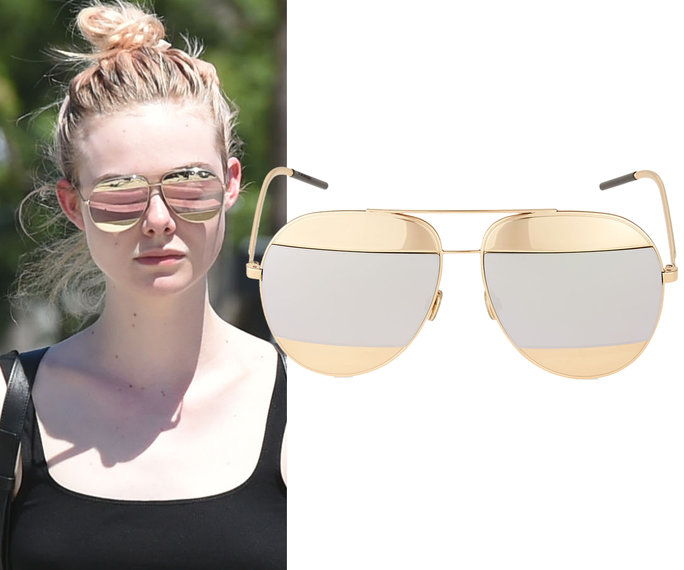 Елле Fanning in Dior sunglasses