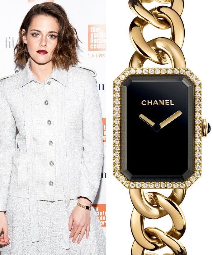 Кристен Stewart with Chanel watch