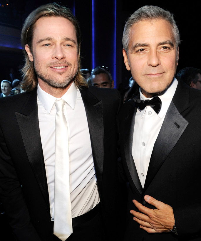 Брад Pitt and George Clooney