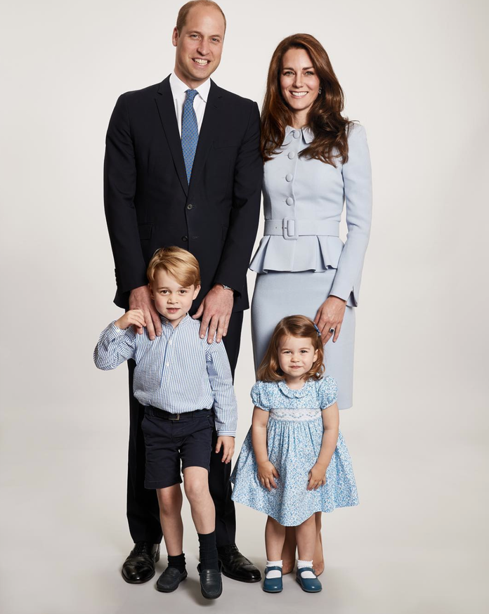 Тхе Duke and Duchess of Cambridge, Prince George, and Princess Charlotte, 2017
