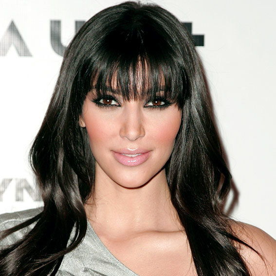 Ким Kardashian - Transformation - Bangs - Celebrity Before and After