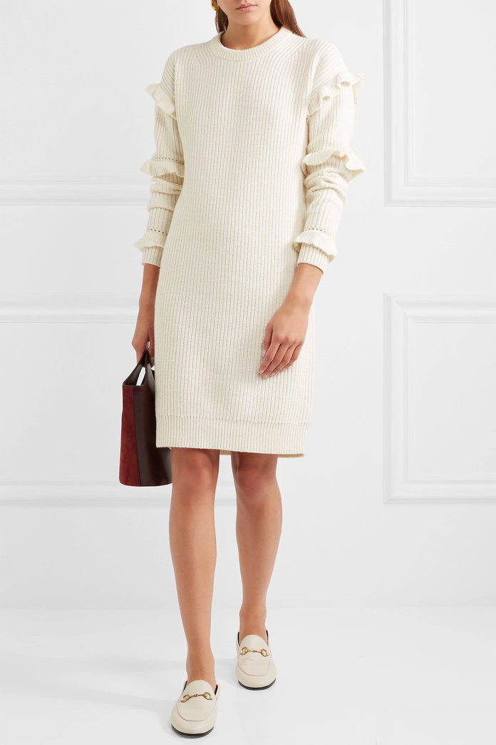 ميخائيل Michael Kors Ruffled Knit Dress