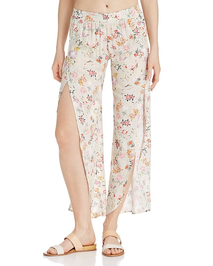 Вера Floral Print Side Slit Pants