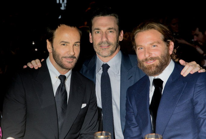 Том Ford, Jon Hamm, and Bradley Cooper