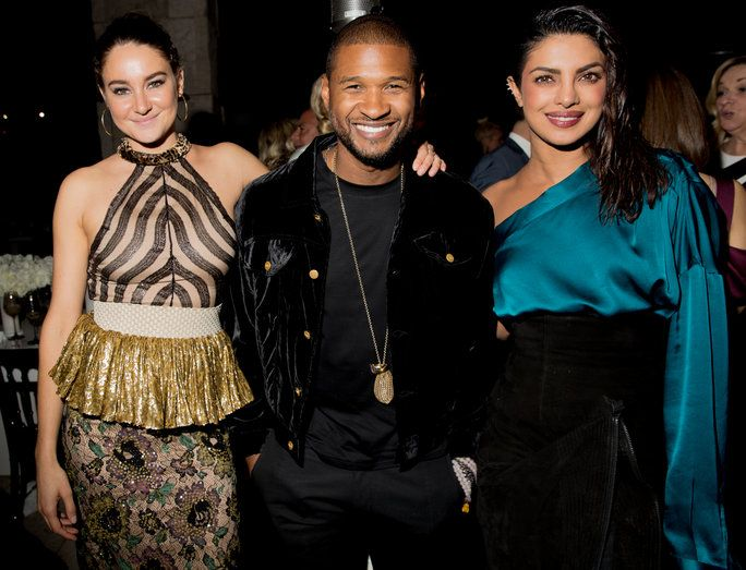 Схаилене Woodley, Usher, and Priyanka Chopra