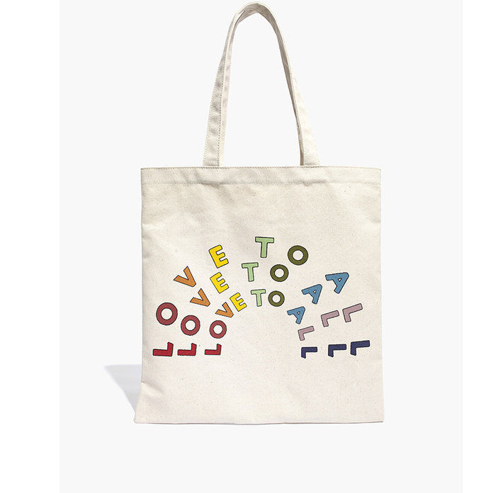 Икс HRC Love to All Reusable Canvas Tote Bag