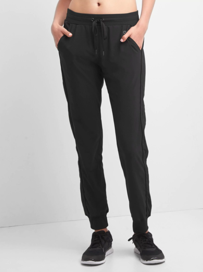 الفارق Studio stripe-panel joggers
