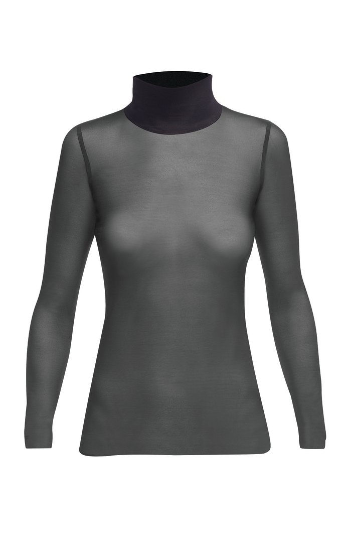 MESH TURTLENECK